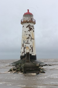 Point of Ayr lighthouse at Talacre, on the north coast of Wales