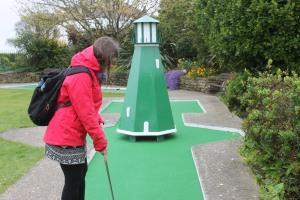 The Bognor Regis mini golf course lighthouse