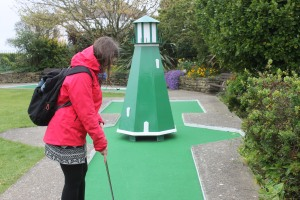 The Bognor Regis mini golf course lighthouse