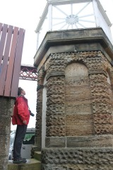 Bob exploring the old South Queensferry lighthouse