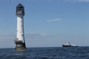 Bell Rock lighthouse with the Pharos in the background