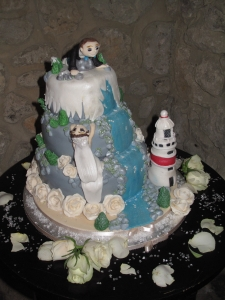 Our wedding cake (picture taken by Bill Kean)