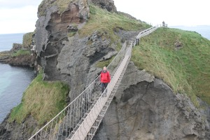 Bob on the Carrick-a-Rede rope bridge