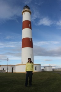 At lighthouse 26 of our honeymoon, Tarbat Ness