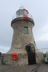 The lighthouse at the south entrance to the Tyne