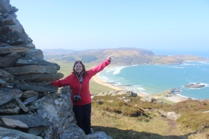 Reaching the highest point of Colonsay