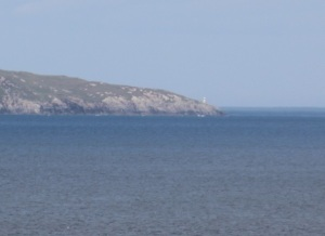 Gob Rubha Uisinis lighthouse from a distance