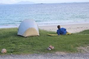 Relaxing at Huisinis beach