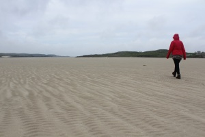 A long stroll out to the sea at Uig beach