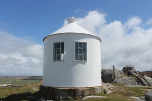 The observation tower on Erraid, with windows looking out towards Dubh Artach and Skerryvore
