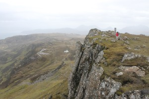 The steep drop at the summit of Dun Caan