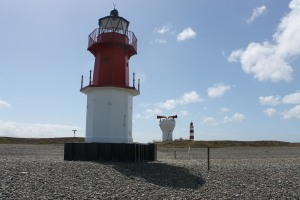 The two lighthouses and foghorn at Point of Ayre