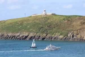 The lighthouse on St Tudwals Island West