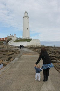 Off we go to St Mary's lighthouse!