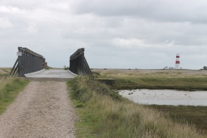 The Bailey Bridge and the lighthouse beyond