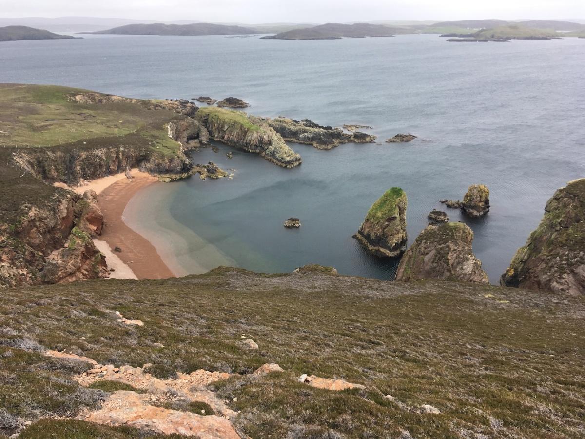 Muckle Roe coastline