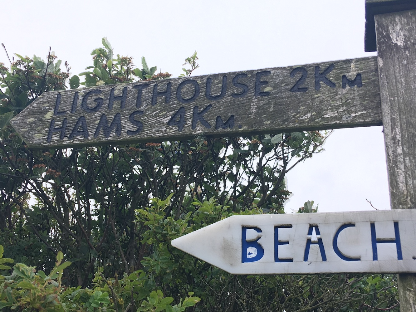 Muckle Roe sign