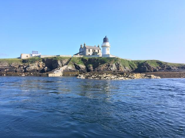 Helliar Holm from sea