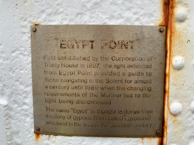Egypt Point plaque