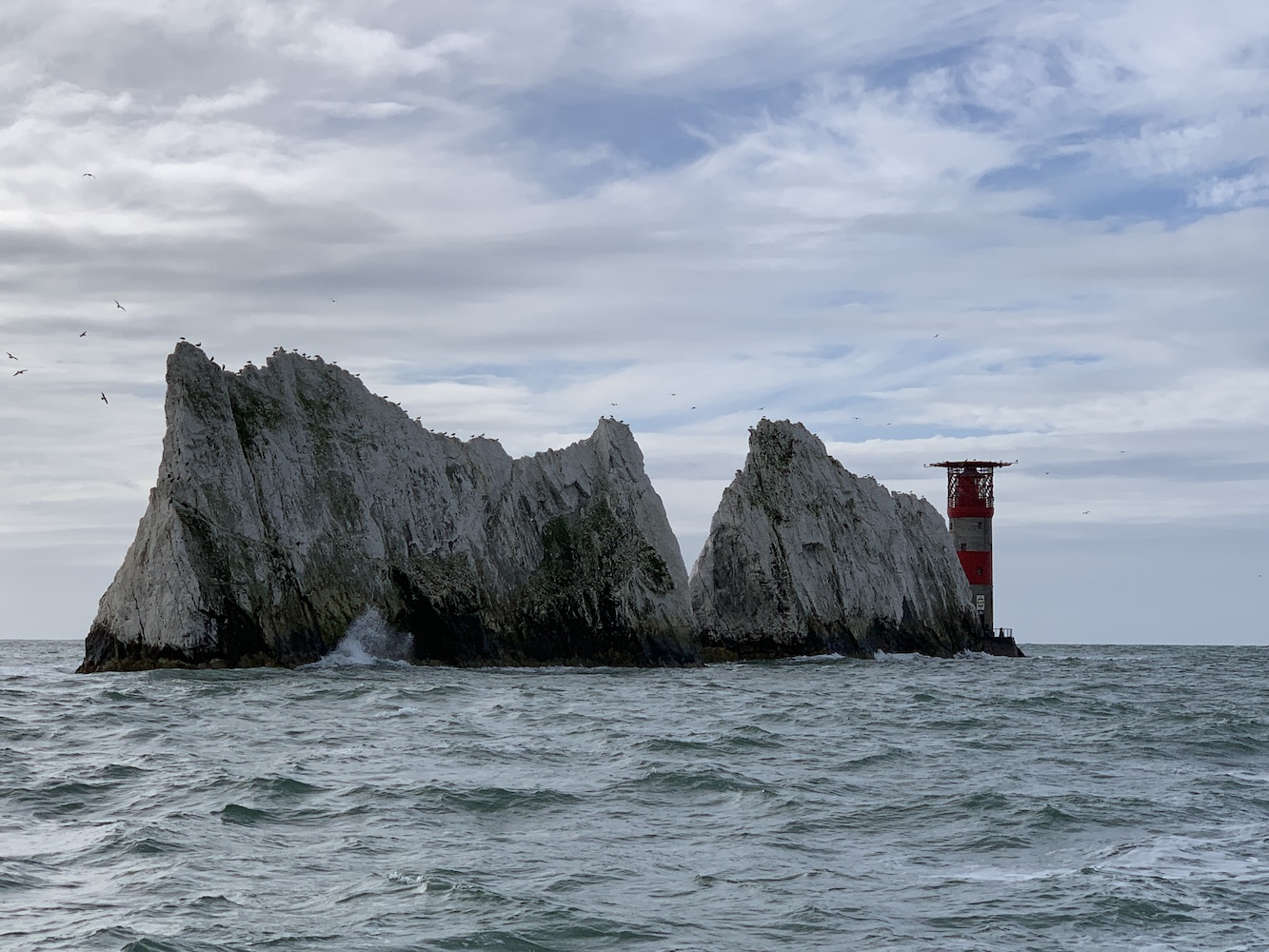 Needles and lighthouse